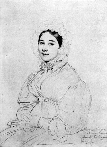 Madame Jean Auguste Dominique Ingres, born Madeleine Chapelle III - Jean Auguste Dominique Ingres