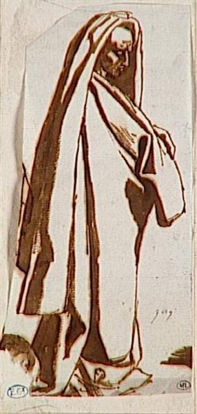 Man draped standing - Jean Auguste Dominique Ingres