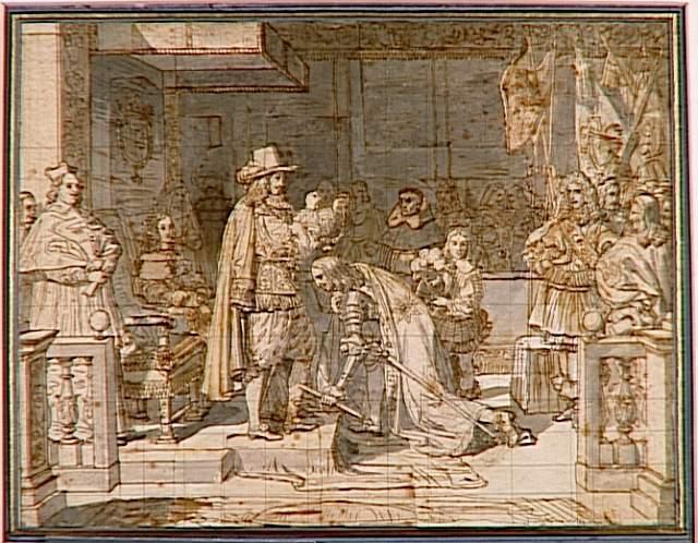 Philip V handing around the Golden Fleece to the Duke of Berwick after the battle of Almanza, 1813 - Jean Auguste Dominique Ingres