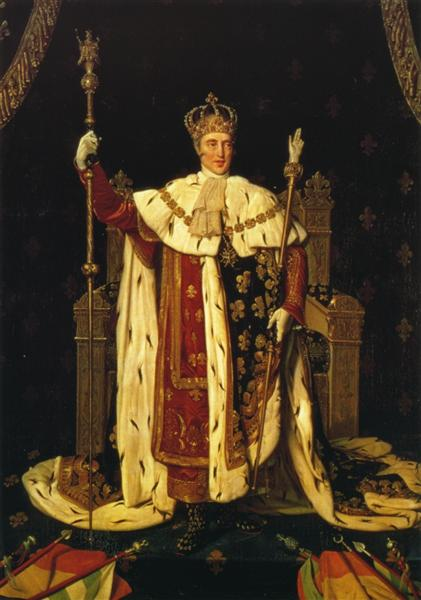 Portrait of Charles X in Coronation Robes, 1829 - Jean Auguste Dominique Ingres