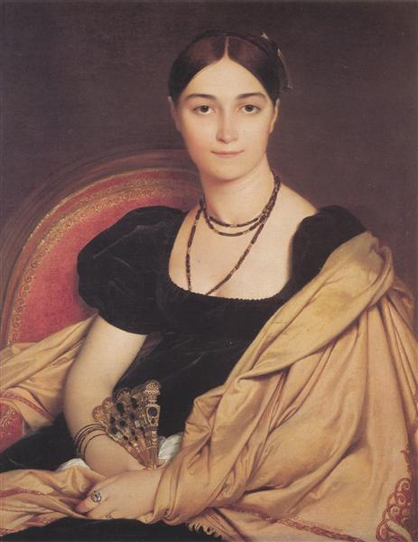 Portrait of Madame Antonia de Vaucay nee de Nittis, 1807 - Jean Auguste Dominique Ingres
