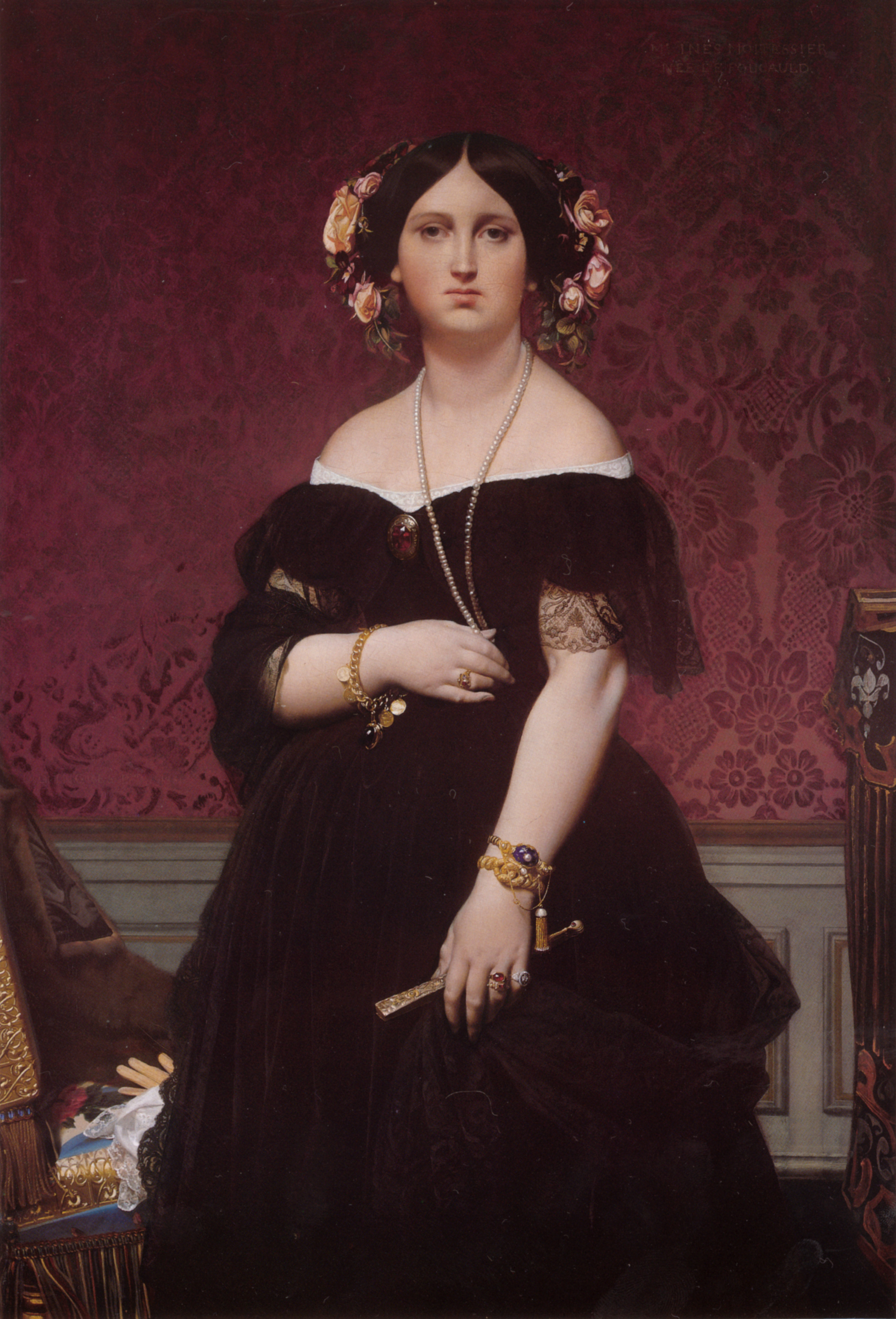 Portrait of Madame Moitessier Standing - Jean Auguste ...