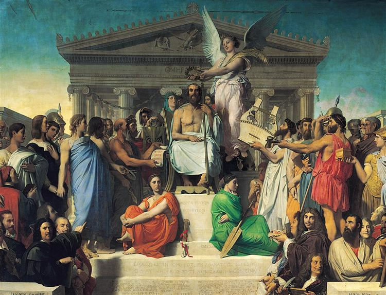 The Apotheosis of Homer, 1827 - Jean Auguste Dominique Ingres