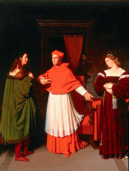 The Betrothal of Raphael and the Niece of Cardinal Bibbiena, 1813 - 1814 - Jean Auguste Dominique Ingres