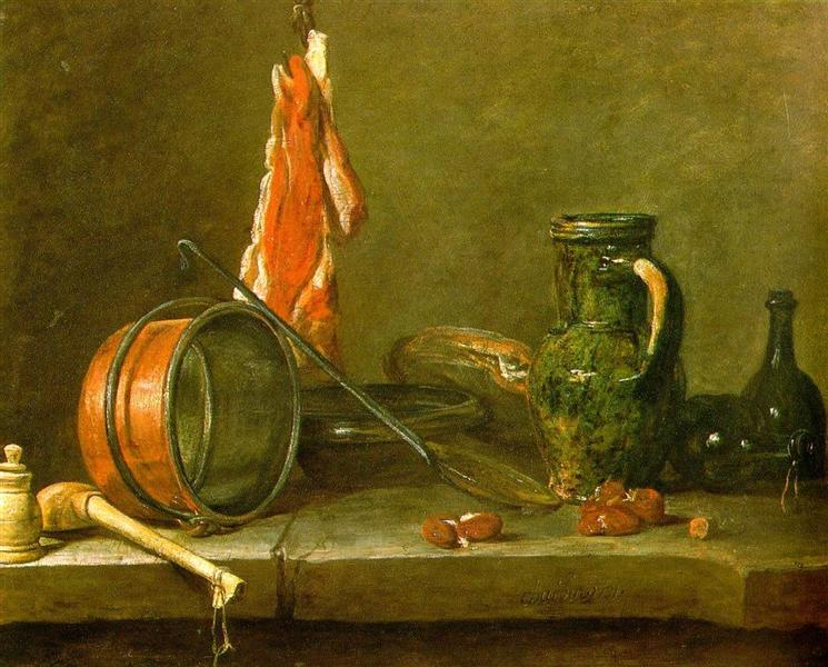 A Lean Diet with Cooking Utensils, 1731 - Jean-Baptiste-Simeon Chardin