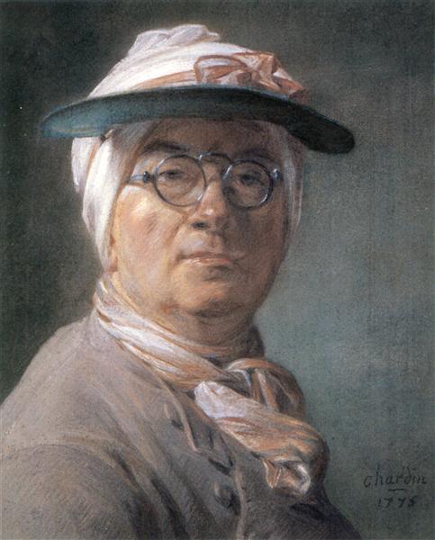 Self-portrait wearing Glasses, 1775 - Jean-Baptiste-Simeon Chardin