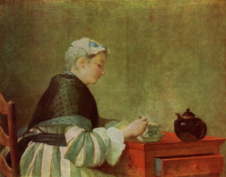 Thetea drinker, 1735 - Jean-Baptiste-Simeon Chardin