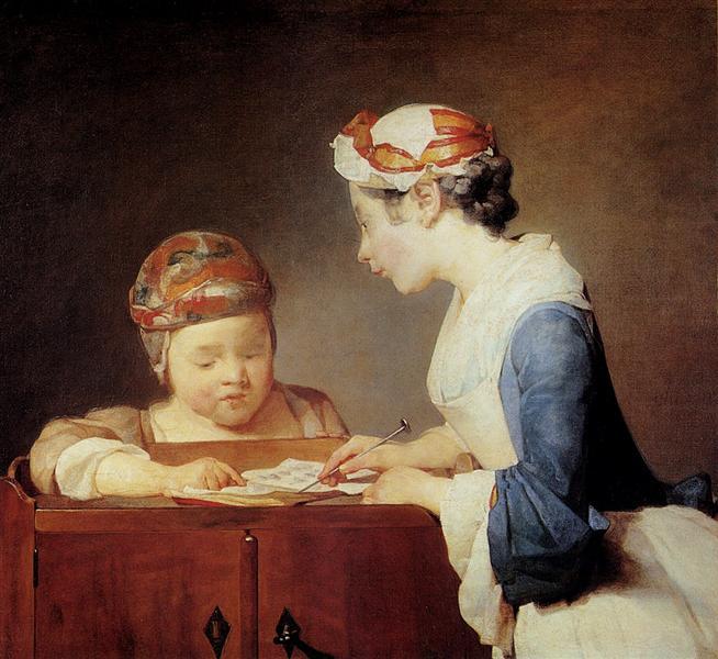 The Young Schoolmistress - Jean-Baptiste-Simeon Chardin
