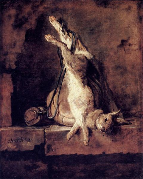 Wild Rabbit with Game Bag and Powder Flask, 1728 - 1730 - Jean-Baptiste-Simeon Chardin
