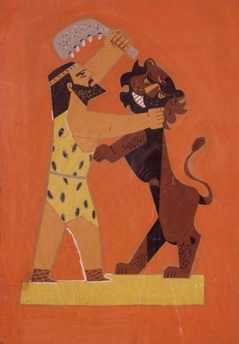 Shimshon and the lion - Jean David