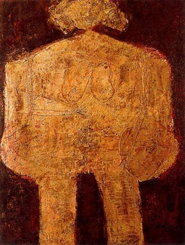 The beautiful heavy breasts - Jean Dubuffet
