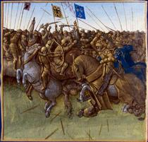 A re-imagination of Louis III and Carloman's 879 victory over the vikings - Jean Fouquet