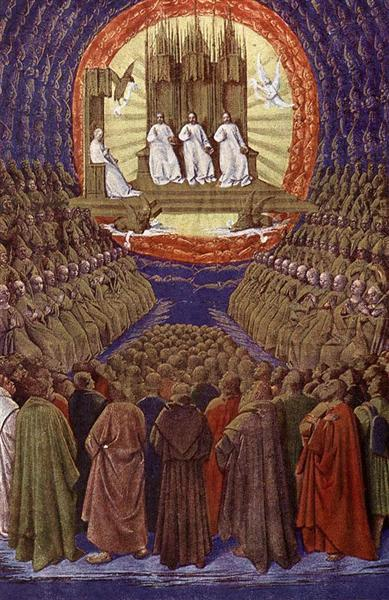 Enthronement of the Virgin or, The Trinity in its Glory, c.1445 - Jean Fouquet