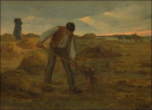 Peasant Spreading Manure, 1854 - 1855 - Jean-Francois Millet