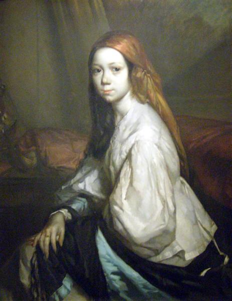 Portrait of Pauline Ono, 1843 - 1844 - Jean-Francois Millet