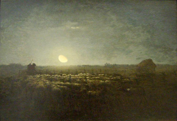 The sheep pen, moonlight, 1872 - 1873 - Jean-Francois Millet
