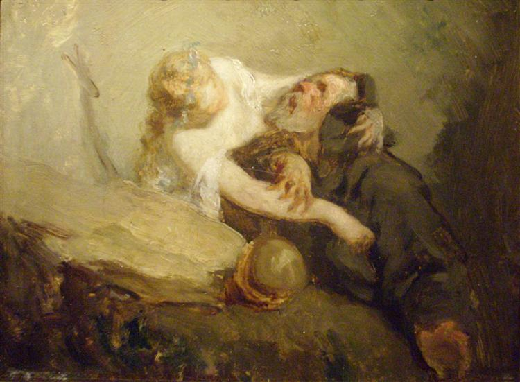 The Temptation of St. Anthony - Jean-Francois Millet