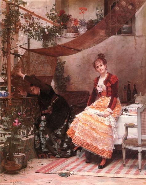 Why comes he not?, c.1860 - c.1866 - Жан Жорж Вибер