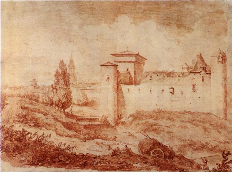 CastleNègrepeliss, c.1773 - Jean-Honore Fragonard