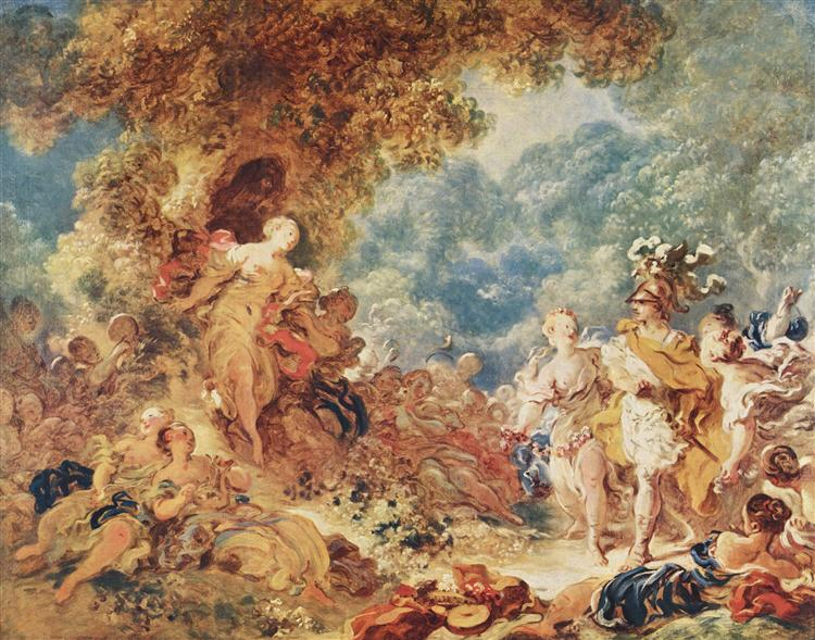 Rinaldo in the garden of the palace of Armida, c.1763 - Jean-Honoré Fragonard
