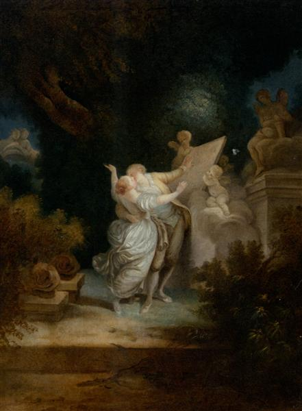 The Sermon of Love - Jean-Honore Fragonard