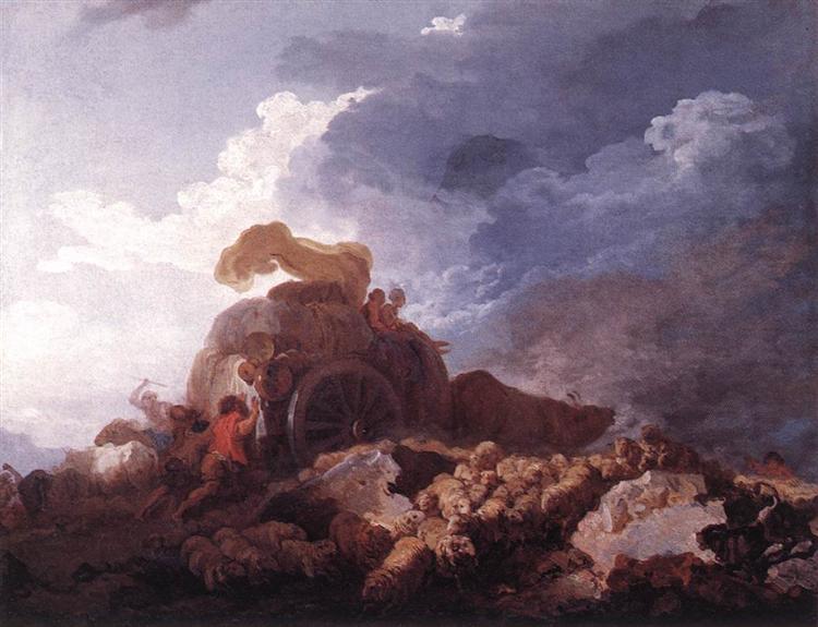 The Storm, c.1759 - Jean-Honore Fragonard