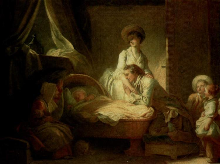 Visittothenurse, c.1775 - Jean-Honore Fragonard
