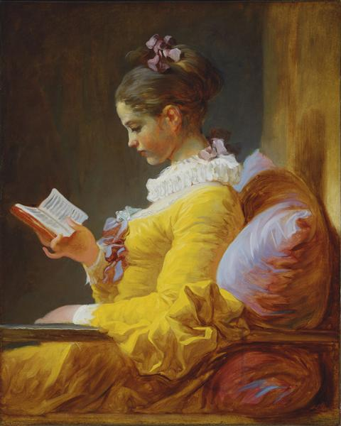 A Young Girl Reading, c.1776 - Жан-Оноре Фраґонар