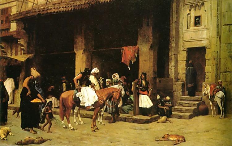 A Street Scene in Cairo - Jean-Leon Gerome