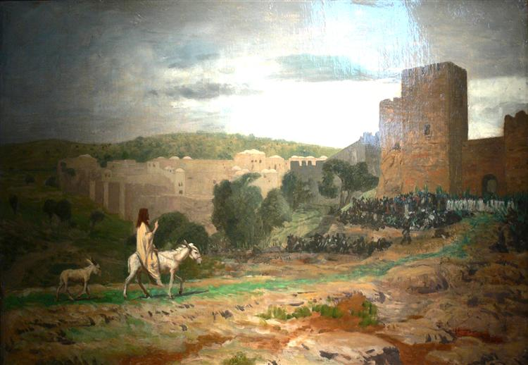 Entry of the Christ in Jerusalem, 1897 - Jean-Leon Gerome