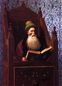 Mufti Reading in His Prayer Stool - Jean-Léon Gérôme