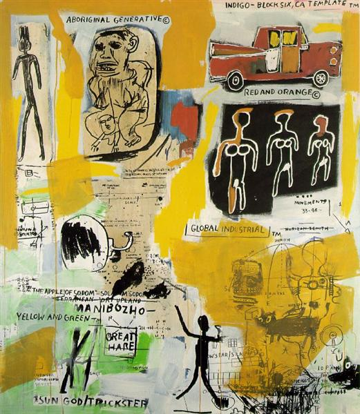 Basquiat, Aboriginal, 1984. Fonte: WikiArt