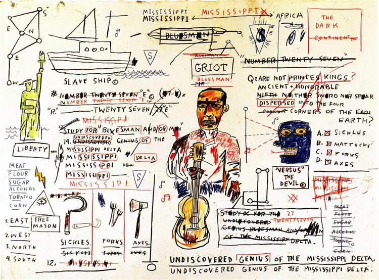 Undiscovered Genius, 1983 - Jean-Michel Basquiat