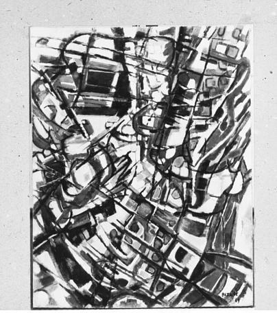 The Diver, 1949 - Jean Bazaine