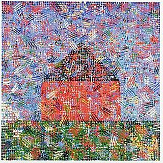 House: Dots, Hatches, 1999 - Jennifer Bartlett