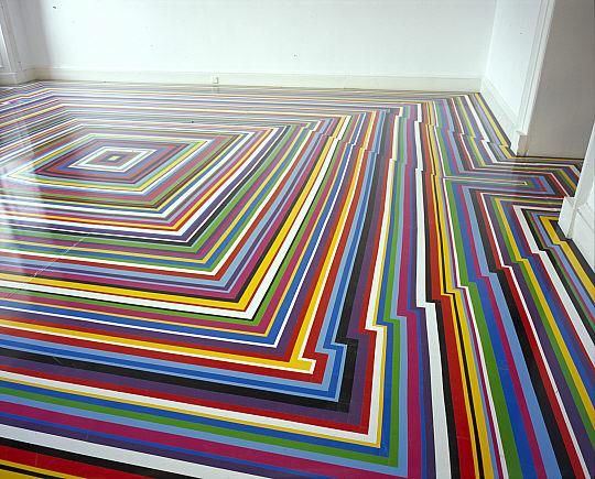 Zobop (installation view), 1999 - Jim Lambie