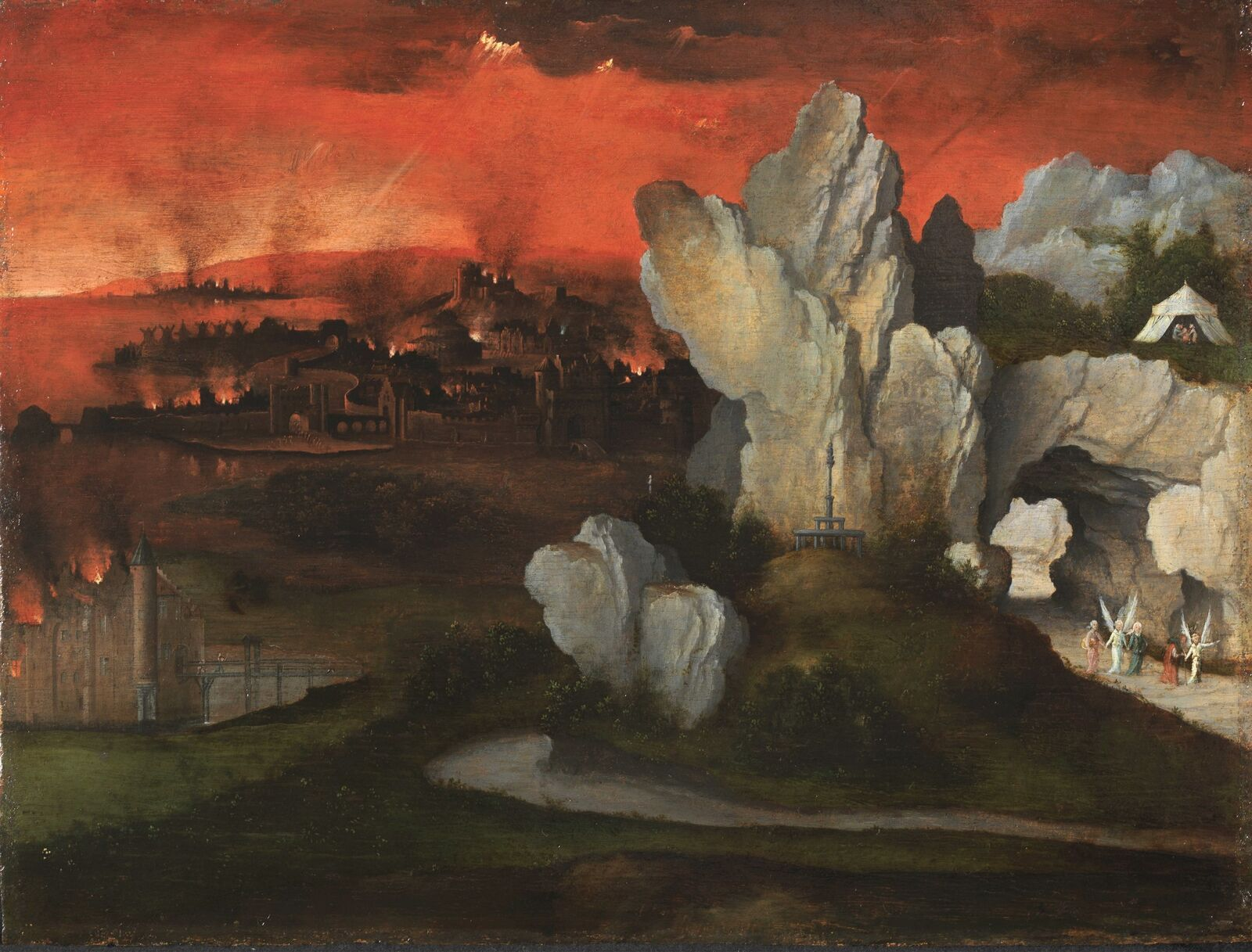 Landscape with the destruction of Sodom and Gomorrah ...