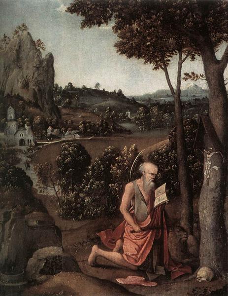 Rocky Landscape with Saint Jerome - Joachim Patinir