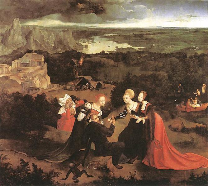 Las tentaciones de San Antonio Abad, c.1515 - Joachim Patinir