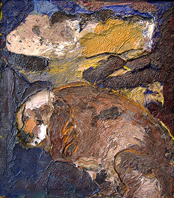 Cocker Spaniel with Cloud at Night, 1963 - Joan Brown