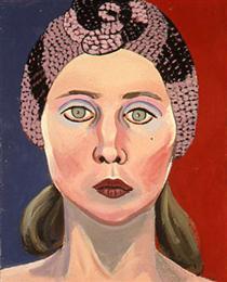 Self-Portrait in Knit Hat - Joan Brown
