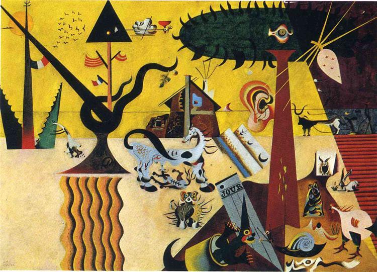 The Tilled Field - Joan Miró