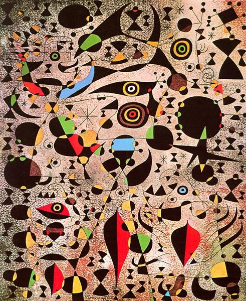 Woman Encircled by the Flight of a Bird, 1941 - Joan Miro