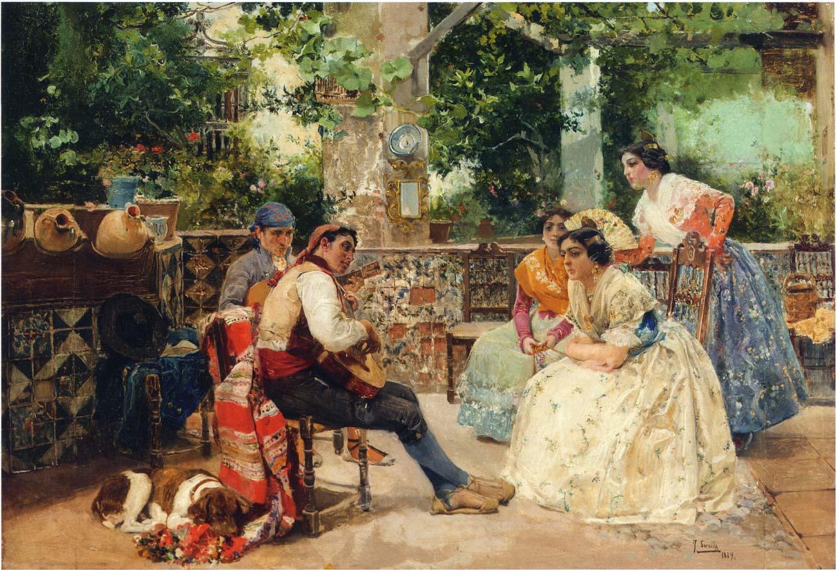 Guitplayers valencia 1889 joaqu n sorolla for Casa con jardin valencia