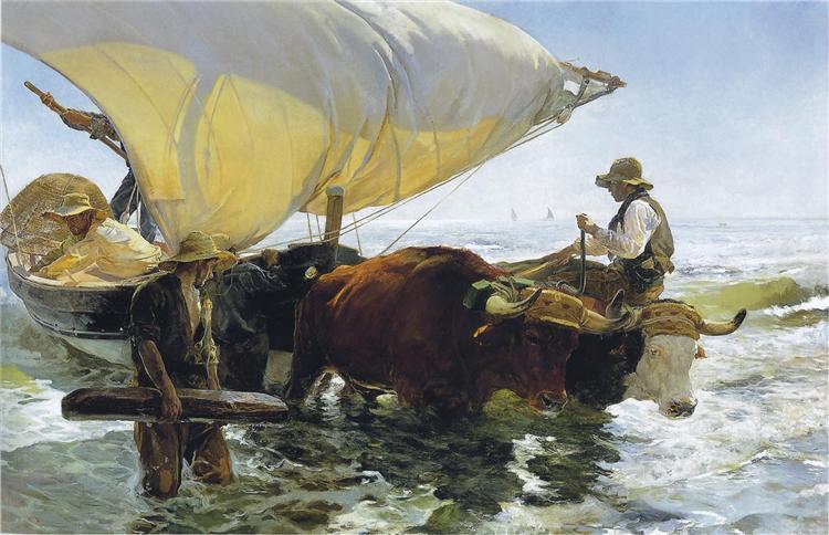 Return from Fishing, 1894 - Joaquín Sorolla