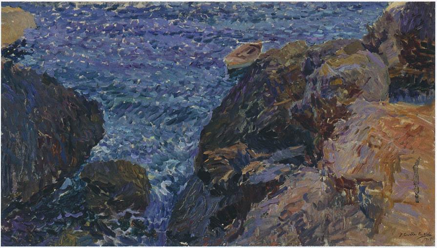 Rocks At Javea The White Boat 1905 Joaqu 237 N Sorolla