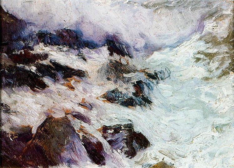 Sea and rocks - Jávea, 1900 - Joaquín Sorolla