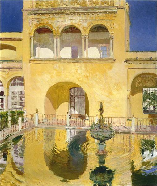 The Alcázar at Seville, 1908 - Joaquín Sorolla