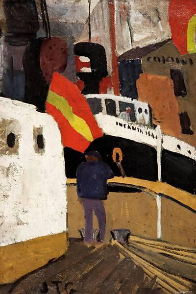 El Puerto de Barcelona, 1919 - Хоакін Торрес Гарсія