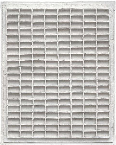 Weißes Strukturrelief R 62-1, 1962 - Johannes Jan Schoonhoven